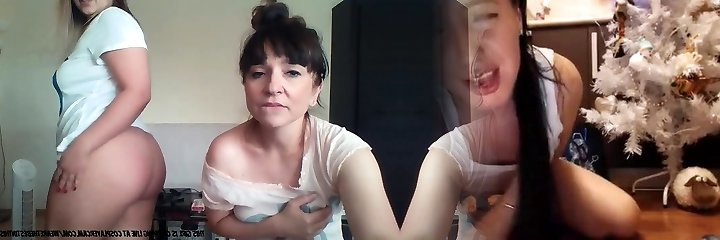 Mom And Daughter On Webcam...