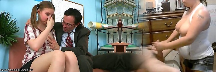 Mischievous aged teacher gets lusty apology from his nice student with pigtails