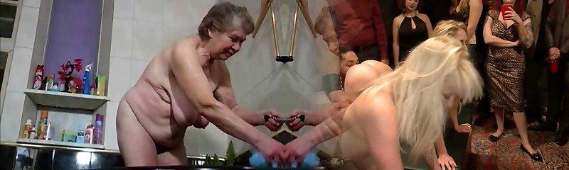 granny has a douche