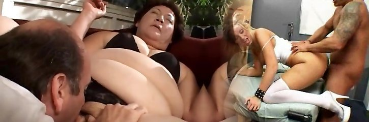 BBW Granny Gets Her Meaty Pussy Wedged