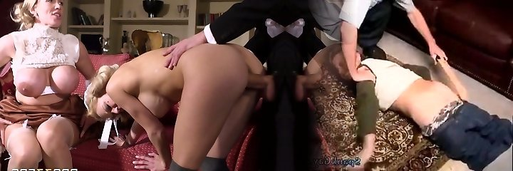 Young rich fellow had hard threesome with 2 buxom mommies