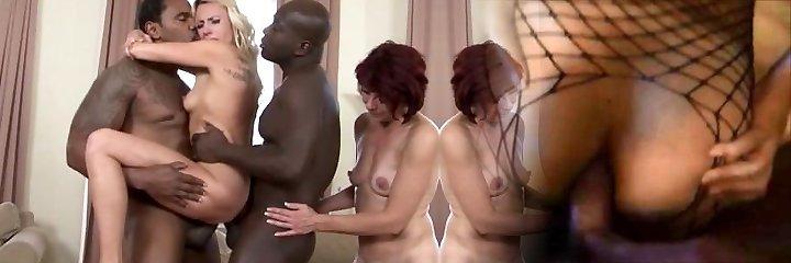 Matures in hardcore interracial group sex facial spunk