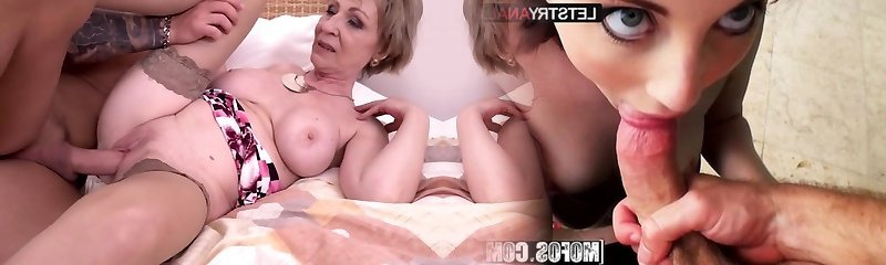 Hot cougar and her younger paramour 869