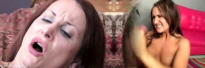 Matured woman gets naughty in her dark-hued underwear