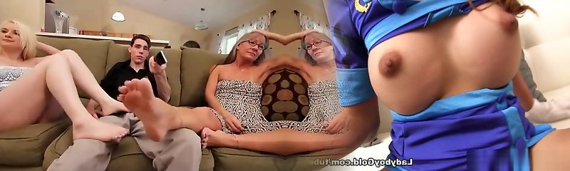Granny feet wank