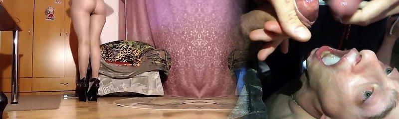 mumia w słodki sheer błyszczące pończochy