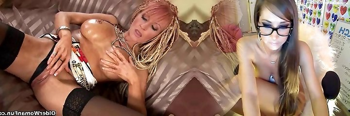 Slutty soccer mommy boinks her pussy and ass with dildos