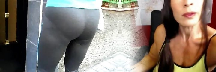 cameltoe gris leggins2