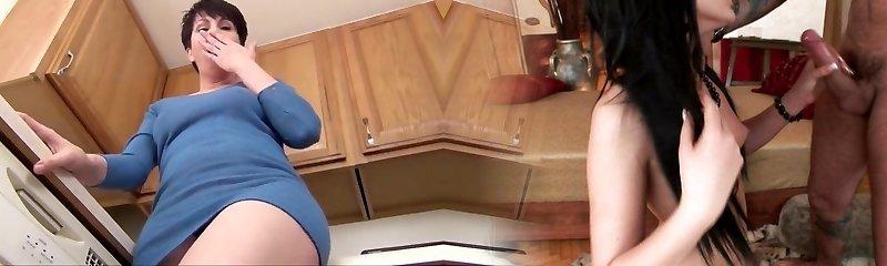 Exotic homemade MILFs, Mature gonzo video