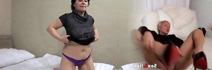 OldNanny Senior mature woman makes striptease