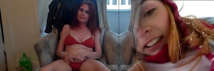 Ruda czerwień na pokaz (sesja zdjęciowa czerwone bikini)