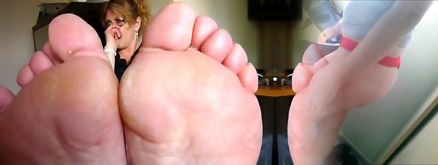 Mature smelly soles in your face