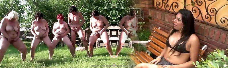 Dirty lesbian group sex with watermelon pissing handballing