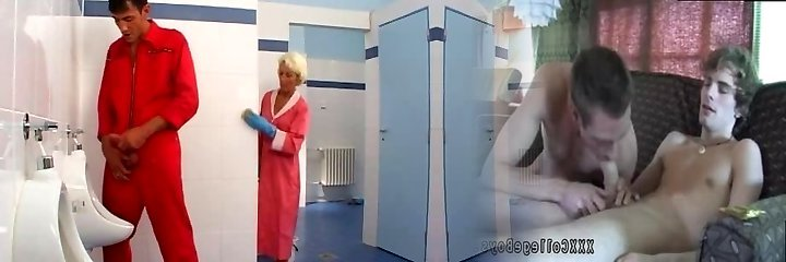 Mature sex in toilet