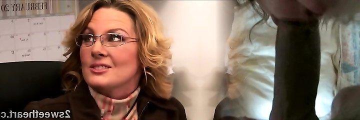Big stacked mature secretary trains her new wondrous  mate