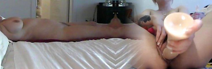 hidden web cam MILF massage pt1