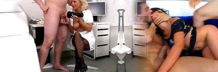 Czech cougar doctor Koko Margit cfnm hj