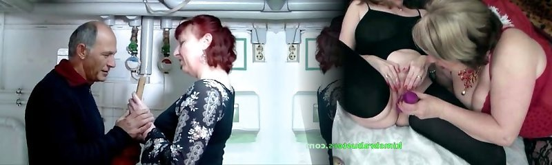 German mature ginger-haired housewife and the plumber - Amanda