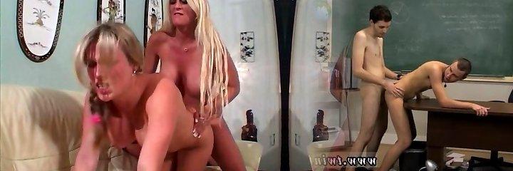 Teen using a fake penis