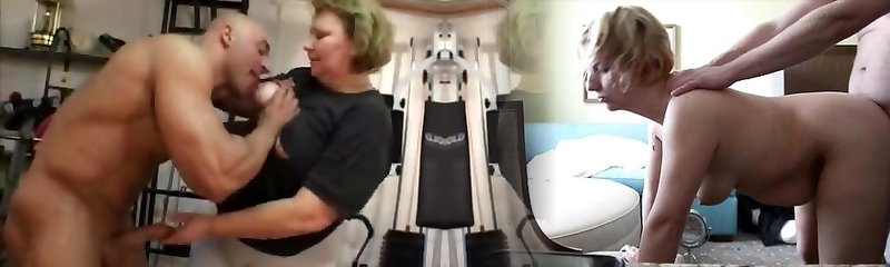 immense granny does rectal in the gym