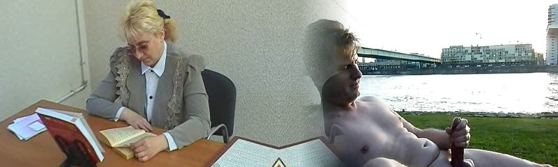 abuela tetona en vasos de garganta profunda y taladros