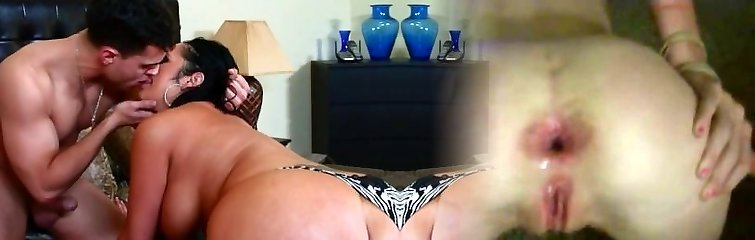 Chubby mommy Vannah Sterling displays off her skills