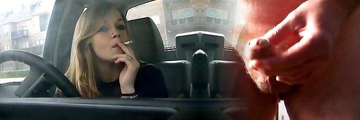 lady smoking in car 3