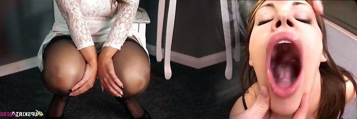 Infatuating blonde mummy Kellie O Brian demonstrates what she got under her skirt