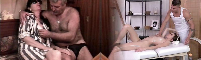 Vintage French fucky-fucky video with a mature wooly couple