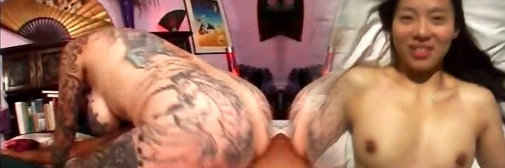 Strong tattooed and pierced granny fucked rear end style