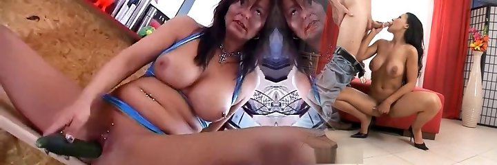 german pierced mommy with a cucumber