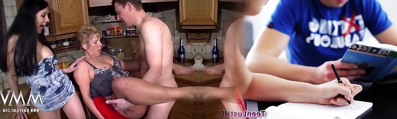 MMV FILMS Busty Mature Unexperienced Threesome