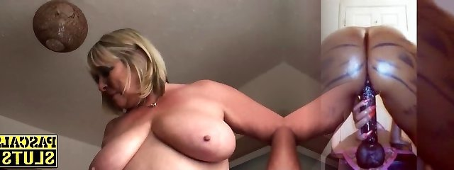 Lush mature nymph rubbing her shaved pussy ecstatically