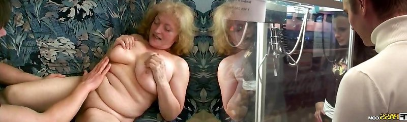 Chubby Granny Likes Jizz Running In Rivulets from her Chin