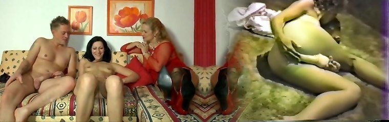 German mom and a junior couple having joy