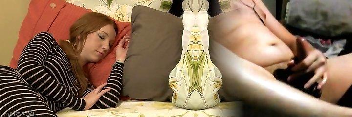 super-niegrzeczny dojrzałe erica lauren wiertła palące ogier obok swej śpiącej dziewczyny