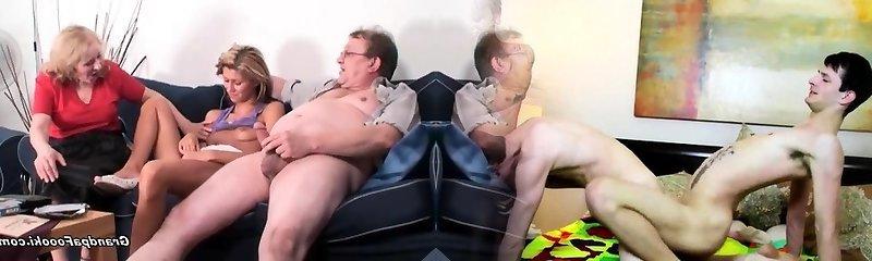 Skinny honey gets fucked in hard 3 way
