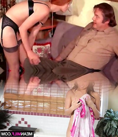 Sexy Redhead Teenage Seduced Fat Old Sheriff (Vintage)