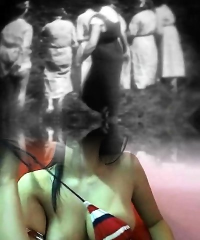 Horny Mademoiselles get Slapped in Forest (1930s Vintage)