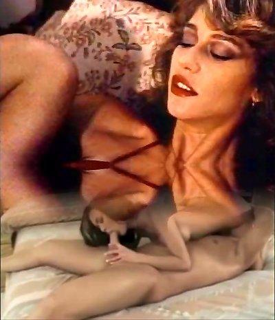 Retro Classical - Dame in Satin Lingerie Pleasuring Herself