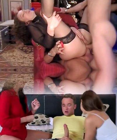 Hottest amateur Double Penetration, Compilation sex clip