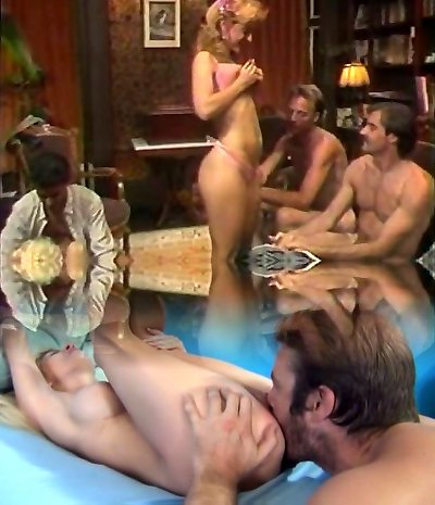 Hot retro group sex act with Nina Hartley