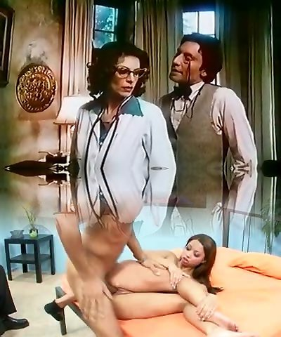 Nasty sexy and busty vintage doctor sucks strong dick of naughty boy