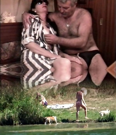 Vintage French sex video with a mature unshaved duo