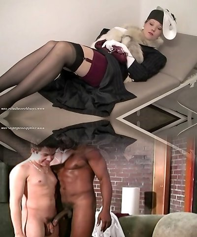 Full Clothed Retro Lingerie Lady By Her Doctor