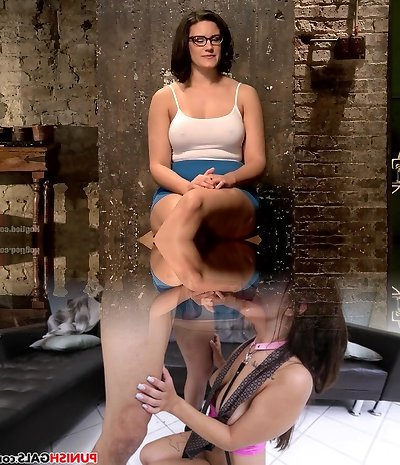 Busty Cougars hot little jaws gets her in trouble