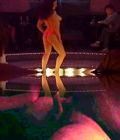 Lesbian striptease belt dick session