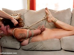 In this Feature Presentation, the one and only Princess Donna returns for another intense rough sex and bondage update with Jordan Ash!  This storyline features great role play and hot chemistry between Donna and Jordan in their first scene together.  Donna enjoys being manhandled, throat fucked and pounded in her pussy and ass and Fucktown USA has some of the best footage in this genre on the internet.  Enjoy!
