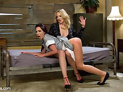 Hot broke waitress (Kirsten Price) attempts to lease a room from rich San Francisco tech worker (Maitresse Madeline Marlowe) only to find out that the only way to afford the rent is to sexually submit to her new landlord. Madeline collects rent with a spanking, flogging, finger fucking, lesbian 69, bondage, simultaneous orgasms, and a hot anal strap-on fucking!