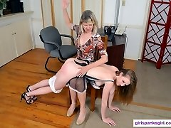 Ashley Lane Smacked for Super-sexy Costume in Office
